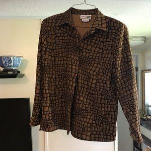 Leslie Fay haberdashery blouse